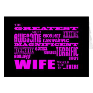 Spaß-Geschenke für Ehefrauen: Bestste Ehefrau Mitteilungskarte