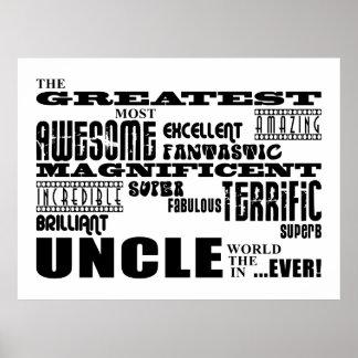 Spaß-Geschenke für Onkel: Bestster Onkel Poster