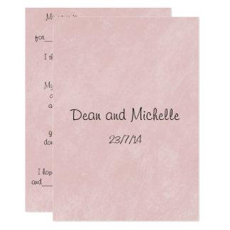 Spaß-Hochzeits-Ratekommentar-Karten Karte