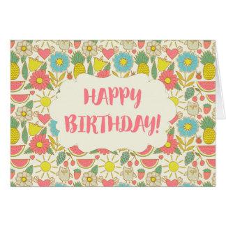 Spaß in alles Gute zum Geburtstag Sun Grußkarte