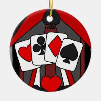 Spaß-künstlerische Spielkarte-abstrakte Kunst Keramik Ornament