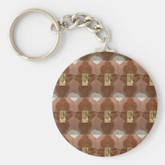 Spaß Miniaturder verschlußmustermessingGlanz-Mode Schlüsselanhänger