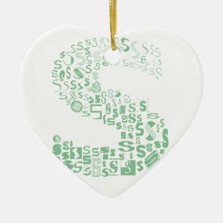 Spaß mit Schriftart S Keramik Herz-Ornament