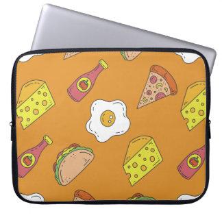 Spaß-Nahrungsmittelmuster Laptopschutzhülle