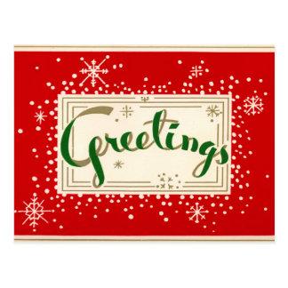 Spaß-Retro Weihnachtsgruß-Postkarte Postkarte