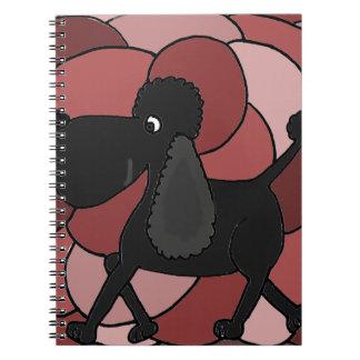 Spaß-schwarzer Pudel abstrakt Notiz Buch