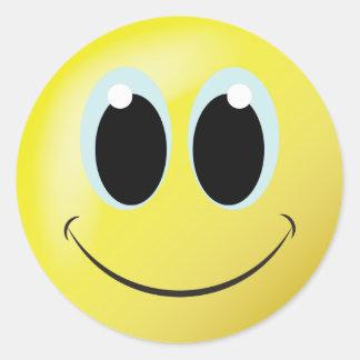 Spaß-Smiley-Zuhause- oder -büroaufkleber Runder Aufkleber