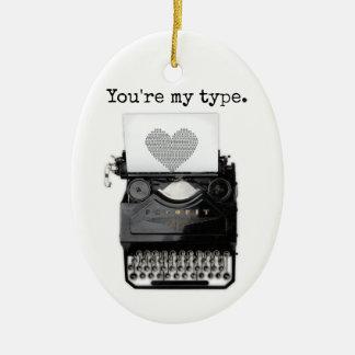 Spaß-Valentinstag | sind Sie meine Art Ovales Keramik Ornament