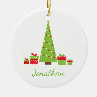 Spaß-Weihnachtspersonalisierte Keramik Ornament
