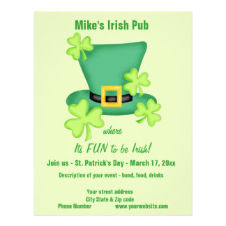 Spaß, zum Iren-St Patrick Geschäfts-Werbeaktion zu 21,6 X 27,9 Cm Flyer