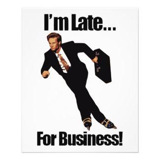 Spät für Geschäftrollerblade-Skater Meme 11,4 X 14,2 Cm Flyer