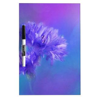 Spätsommer-Blumenflora blauer lila Cornflower Memo Boards
