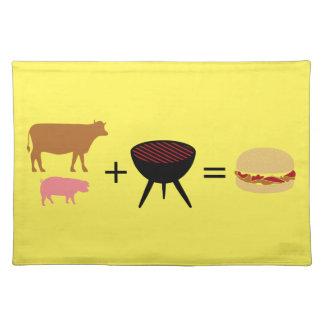 Speck-Burger-Rezept Stofftischset