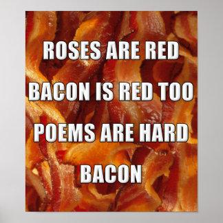 Speck-Gedicht-lustiges Plakat-Zeichen Poster