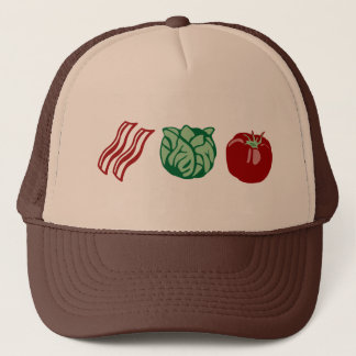 Speck-Kopfsalat u. Tomate - das BLT! Truckerkappe