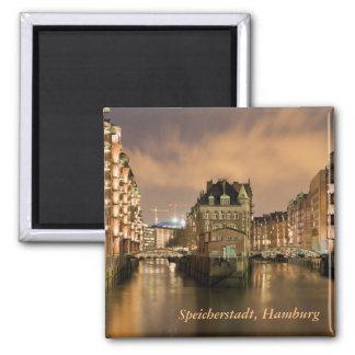 Speicherstadt, Hamburg Quadratischer Magnet