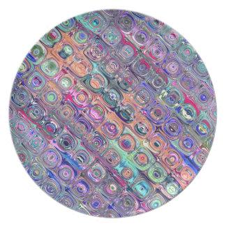 SpektralGlasperlen Melaminteller