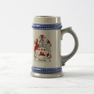 Spence Wappen Stein - Familienwappen Bierglas