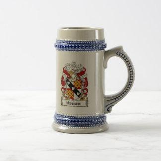 Spencer-Wappen Stein Bierglas