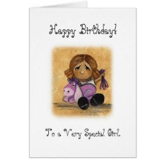 Spezielle Mädchen-Geburtstags-Karte