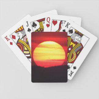 Spezieller Sonnenuntergang-Spielkarten Spielkarten