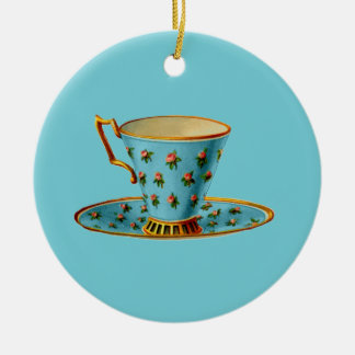Spezielles Tee-Party Rundes Keramik Ornament