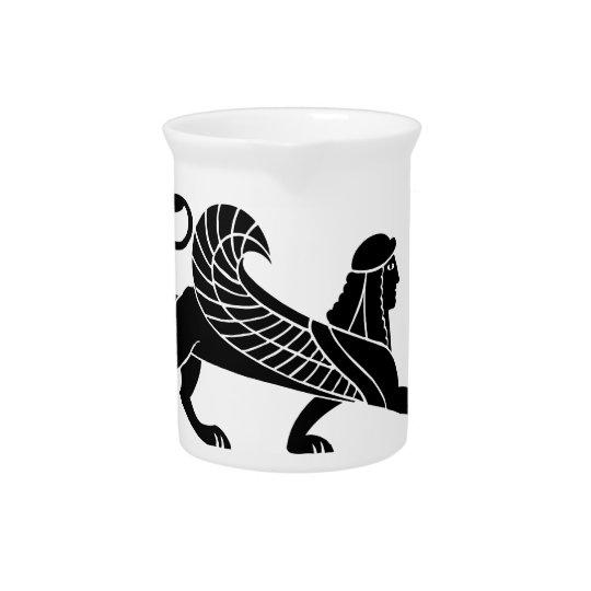 Sphinx, griechischer Entlastungsentwurf Getränke Krüge