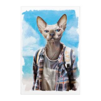 Sphynx Katze. Tourist Acryldruck