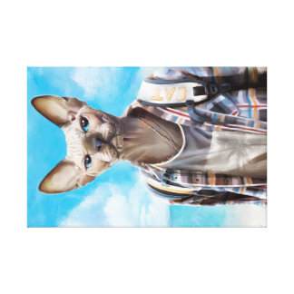 Sphynx Katze. Tourist Leinwanddruck