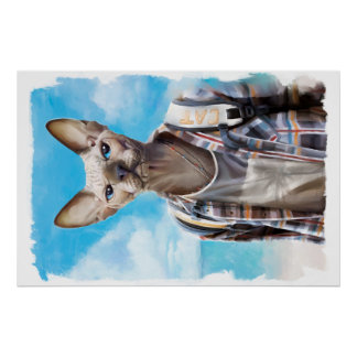 Sphynx Katze. Tourist Poster