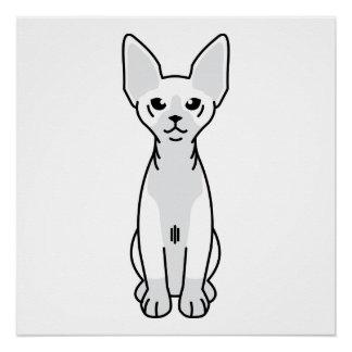 Sphynx Katzen-Cartoon Poster