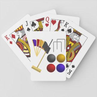 Spiel der Krokett-Spielkarten Spielkarten