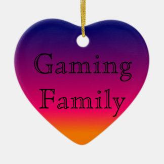 Spiel-Familien-Verzierung Keramik Ornament