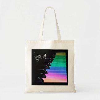 Spiel-Klavier-Regenbogen-Musik-Taschen-Tasche Tragetasche