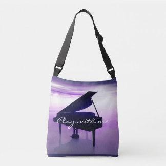 Spiel mit mir Flügel auf der Strand-Musik-Tasche Tragetaschen Mit Langen Trägern
