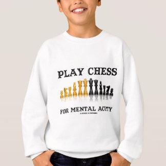 Spiel-Schach für Geistesschärfe (reflektierendes Sweatshirt