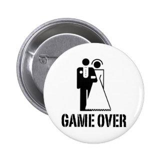 Spiel über Braut-Bräutigam-Hochzeit Runder Button 5,7 Cm