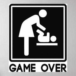 Spiel über neuem Baby für Elternteil-Mamma Poster