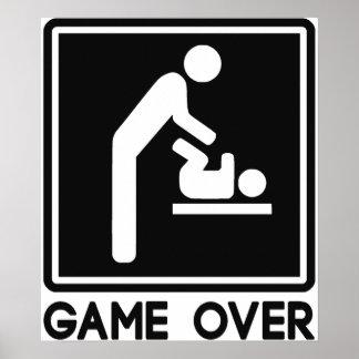 Spiel über neuem Baby für Elternteil-Vati Poster