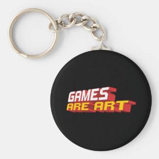 Spiele sind Kunst Standard Runder Schlüsselanhänger