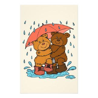 Spielen im Regen Briefpapier