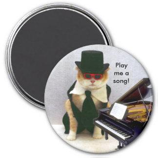 Spielen Sie mich ein Lied Runder Magnet 7,6 Cm