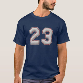 Spieler Nr. 23 - coole Baseball-Stiche T-Shirt