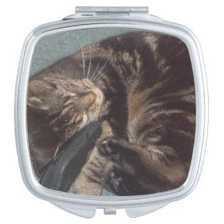 Spielerischer quadratischer kompakter Spiegel Taschenspiegel