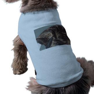 Spielerisches Dave-Hündchen-gewelltes Trägershirt Ärmelfreies Hunde-Shirt