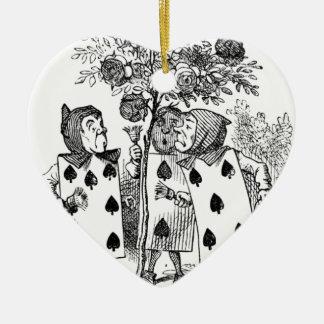 Spielkarte-Bedienstete Keramik Herz-Ornament