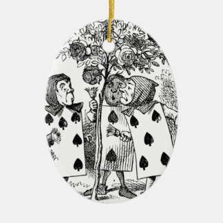 Spielkarte-Bedienstete Ovales Keramik Ornament