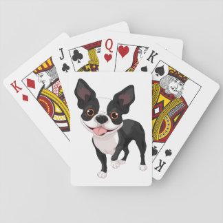Spielkarte-Spaß-Geschenk-Idee Bostons Terrier Spielkarten
