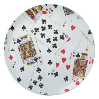 Spielkarte-Spiele Teller