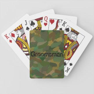 Spielkarte-Standardindex-Tarnungs-Trauzeuge Pokerkarte